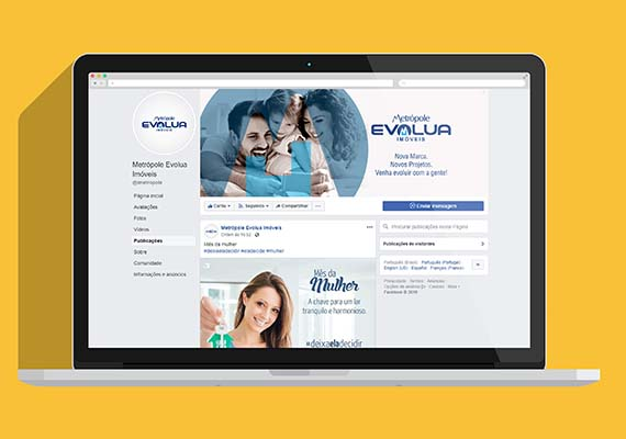 Facebook - Evolua Im�veis